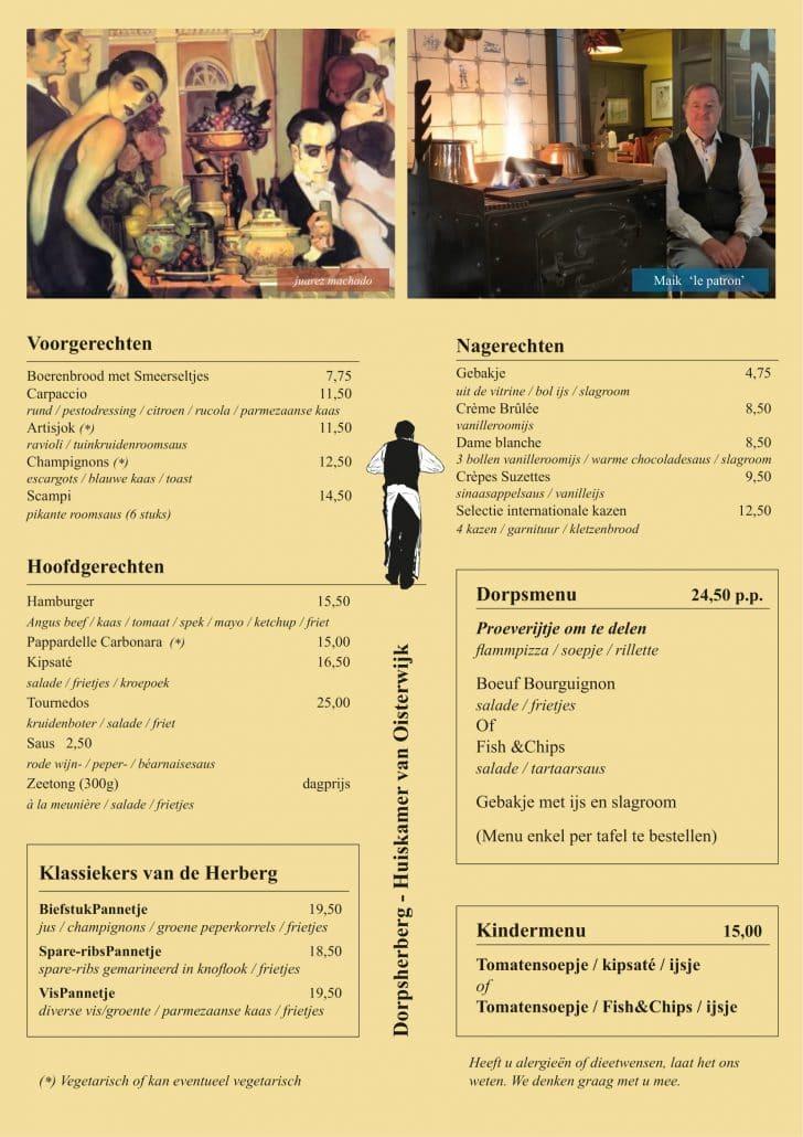 menu dorpsherberg