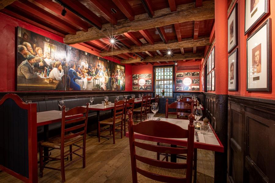 restaurant van de dorpsherberg oisterwijk